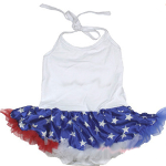 4th of July Baby Halter Bodysuit with Attached Skirt - $24 with FREE Shipping!