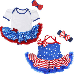 4th of July Baby Bodysuit with Attached Tutu - $25 with FREE Shipping!