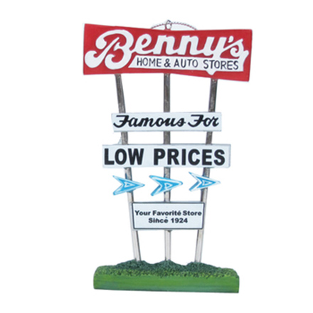 My Little Town - Benny's Sign and George's Clam Cake Ornaments