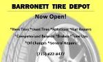 Barronett Tire Depot: 1/2 OFF TWO OIL CHANGES