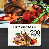 $200 Restaurant.com eGift Card  for $40!