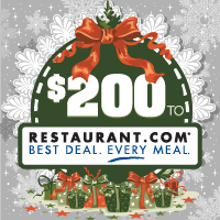 Personalized $200 Restaurant.com eGift Card for just $40!
