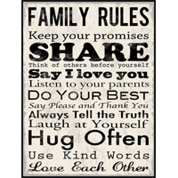 Family Rules Mounted Print OQ70