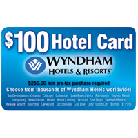 $100 Wyndham Hotel Card