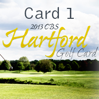 CBS Hartford Golf Card 1