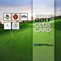 2013 CBS Philadelphia Golf Card North