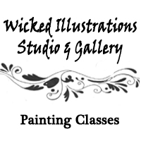 Wicked Illustrations Painting Classes
