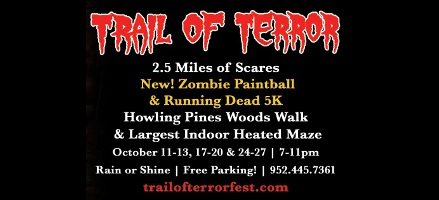 One Admission to Trail of Terror and a FREE Beverage of Your Choice