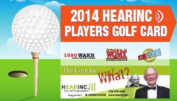2014 HEARINC))) Player's Golf Card