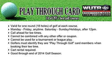 Golfer's Play Through Card 2014