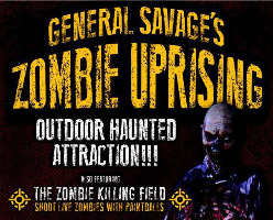 General Savage's Zombie Uprising - (4) Tickets for $60