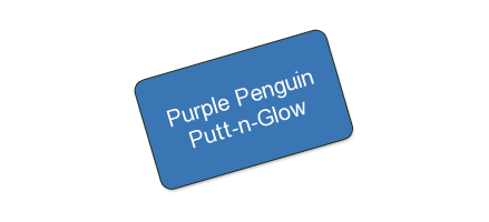 Purple Penguin Putt-n-Glow