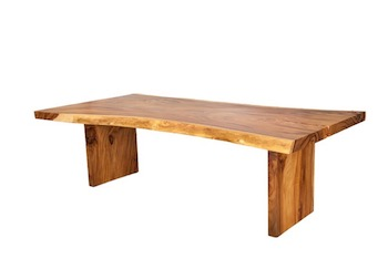 8 Ft. Live-Edge Acacia Dining Table from RuRa Furniture!