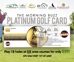 The Morning Buzz Platinum Golf Card -- only $99!