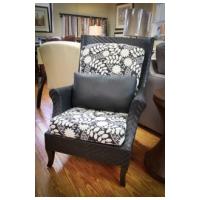 Fortner Fine Furnishings - Black wicker wing chair