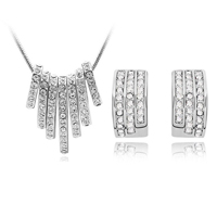 Stella 18K White Gold Plated Necklace & Earring Set - $13 with FREE Shipping!