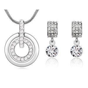 Heather Pendant Necklace & Earring Set - $16 with FREE Shipping!