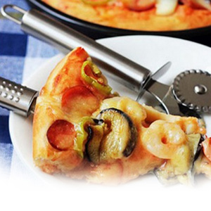 Stainless Steel Double Slider Wheel Pizza Cutter - $6 with FREE Shipping!