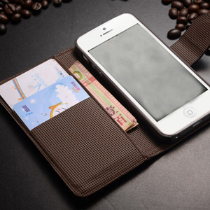 Leather Case Flip Cover w/ Card Holder for iPhone 5/5S - $18 with FREE Shipping!