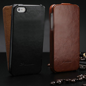 Crazy Horse Leather Flip Case for iPhone 4/4S & 5/5S - $19.50 with FREE Shipping!