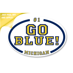 Go Blue Team! - White Oval Decal