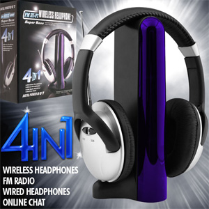 Digital 007 4-in-1 Wireless Headphones- $26 with Free Shipping