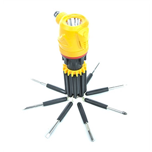 iBasics 12-Pieces: Emergency Hammer with 8 Screwdriver Heads - $20 with free shipping