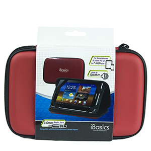 iBasics Portable Speaker Case with Rechargeable Battery (Red)- $25 with free shipping
