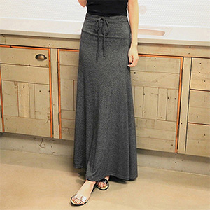 Maxi Skirt with Drawstring - $18 with FREE Shipping!
