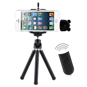 Wireless Camera Remote Shutter w/ Tripod for iPhone 4/5 - $24 with FREE Shipping!