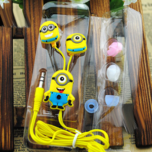 Despicable Me Minion Style 3.5mm In Ear Headphones - $7.50 with FREE Shipping!