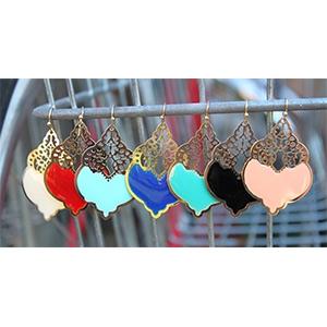 Filigree Enamel Dangle Earrings- $10 with Free Shipping!
