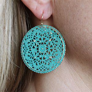 Distressed Vintage Dangle Earrings- $10 with Free Shipping
