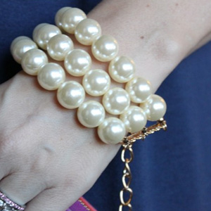 Triple Strand Pearl Bracelet- $13 with Free Shipping