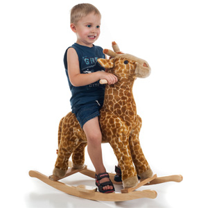 Happy Trails Giraffe Plush Rocking Animal- $68 with Free Shipping
