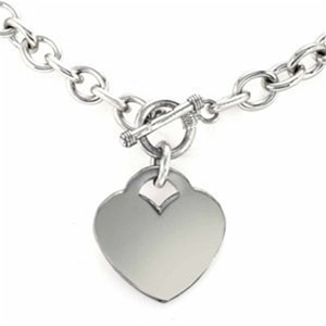 Classic Toggle Clasp Heart Necklace- $11.50 with Free Shipping