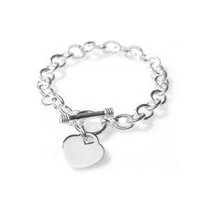 Classic Toggle Clasp Heart Bracelet- $9 with Free Shipping