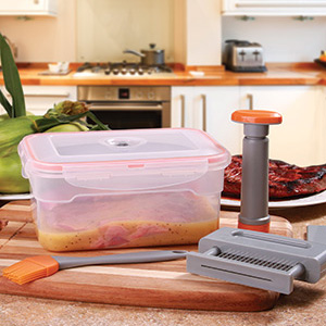 4-Piece Vacuum Marinade Kit- $17.50