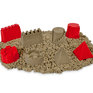 Building Molds with Fun Kinetic Play Sand- $22 with Free Shipping