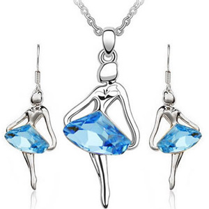 Ballerina Necklace and Earring set- $15 with Free Shipping