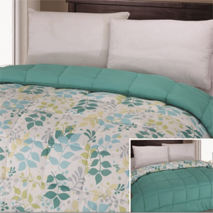 Hypoallergenic Down-Alternative Reversible Comforter- $43 with Free Shipping