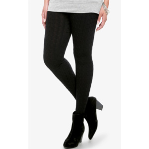 6-Pack Trendy Cable Knit Fleece Leggings- $35 with Free Shipping