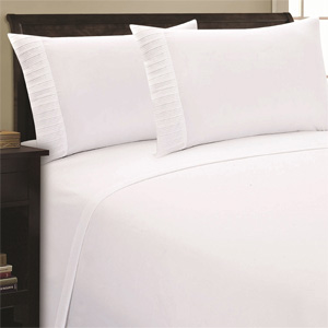 4-Piece Set: Pleated 2000 Series Super-Soft Double-Brushed Sheet Collection- $35 with Free Shipping