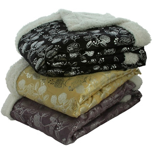 Silver Flower Super-Soft Micro Plush Throw- $33 with Free Shipping
