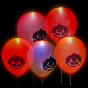 10 Pack of LED Halloween Balloons - $10 with FREE Shipping!