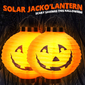 2 Pack of Hanging Solar Pumpkin Lights - $19.99 with FREE Shipping!