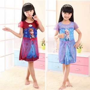 Frozen Inspired Elsa or Anna Summer Dress with Front Bow - $14.50 with FREE Shipping!