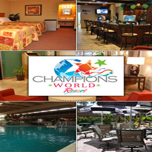 $49 for a 3-day/2-night stay for 2 adults at the Champions World Resort in Orlando + $40 Planet Hollywood Certificate