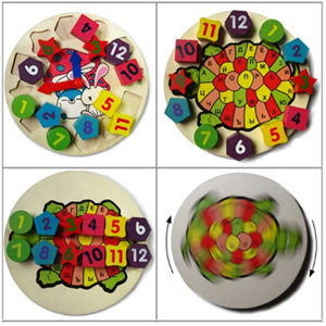 Children's Wooden Educational Clock - $16 with FREE Shipping!