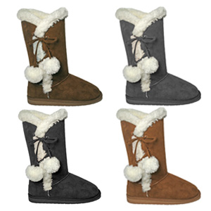 """Women's 13"""" Microfiber Side Tie SheepDawgs- $36 with Free Shipping"""